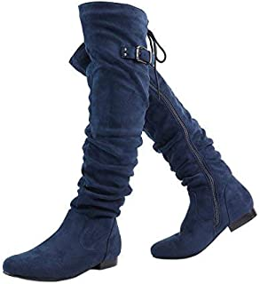 e86f8ffc4d8 DREAM PAIRS Women s Fashion Casual Over The Knee Pull On Slouchy Boots