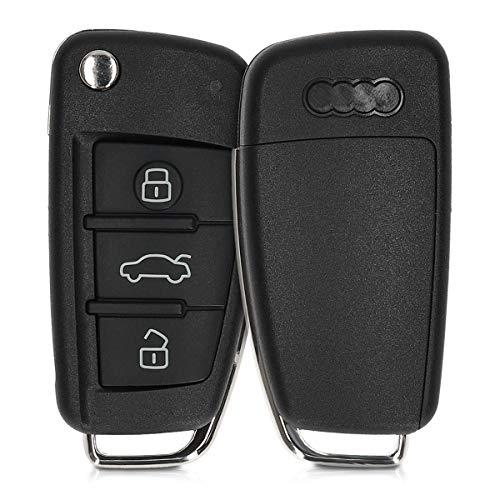 kwmobile Cover Copri-Chiave Compatibile con Audi con 3 Tasti Pieghevole -Guscio di Ricambio Chiavi Auto - Custodia Protettiva Telecomando