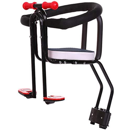 Dittzz Kindersitz Fahrrad Vorne, Abnehmbar Fahrrad-Vordersitz mit Pedal, Griff und Leitplanke, Kindersitz Fahrradsitz für MTB Rennrad