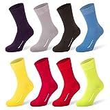 Tiger's Milk 8 Paar Herren Premium Socken Uni Farbig Bunt aus gekämmter Baumwolle ohne Naht Größe 43-46