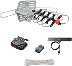 ViewTV Outdoor Antenna Digital Amplified HDTV Antenna Motorized 360 Degree Rotation Wireless Remote 1080p 4K Ready up to 150 Miles Range with 40 ft coax Cable, Mini Indoor TV Antenna