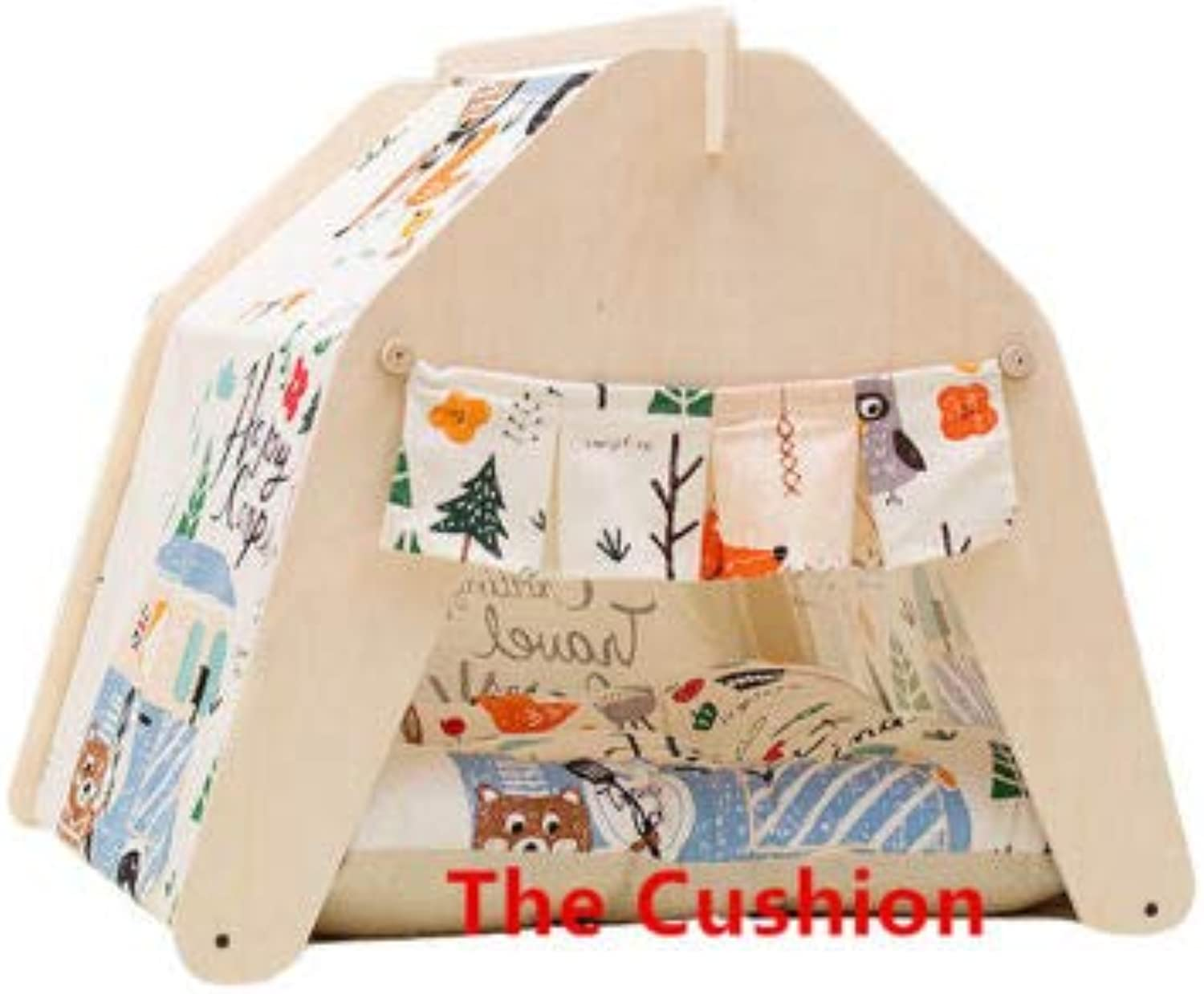 FidgetGear Cute Washable Indoor Outdoor Kennel Dogs House Puppy Pet Teepee Tent Cushion Pad S(Only The Cushion)