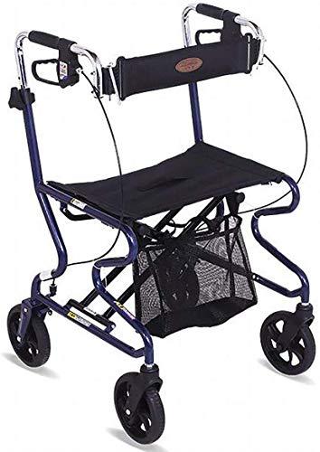 Shopping Rollator Seniors Walker Walking Frame Aid Lichtgewicht Mobiliteit Trolley Kinderwagen Scooter Opvouwbaar met Seat En Tas 4 Wielen voor Ouderen