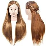 FXS - Testa di manichino, 66 - 71 cm, professionale per parrucchieri da sposa, testa di be...