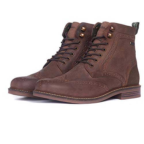 Barbour Herren Seaton Leder Walking Comfort Casual Clever Arbeit Metall Logo Stiefel EU 39-47