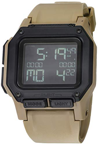 NIXON Regulus A1180 - All Sand - 100m Water Resistant Men's Digital Sport Watch (46mm Watch Face, 29mm-24mm Pu/Rubber/Silicone Band)