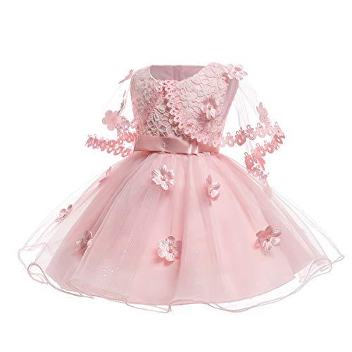 TENDYCOCO Kinder Prinzessin Kleider Blumenmädchenkleid Ärmellos Partykleid Festkleid Mädchen Hochzeit Kleidung 120 für 6-7 Monate Kleinkinder