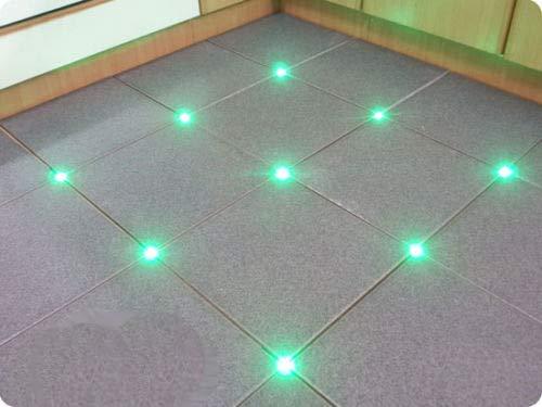 4x Fliesen LED 3mm Fuge Licht Beleuchtung Fugenlicht Kreuz Fliesenlicht (grün)