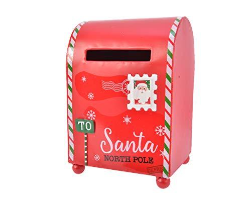 Kaemingk Casetta delle Lettere da Tavolo con Decorazioni Natalizie Natale, Multicolore, 8719152522125