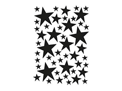 Ferm Living - Mini Stars Wallstickers, schwarz