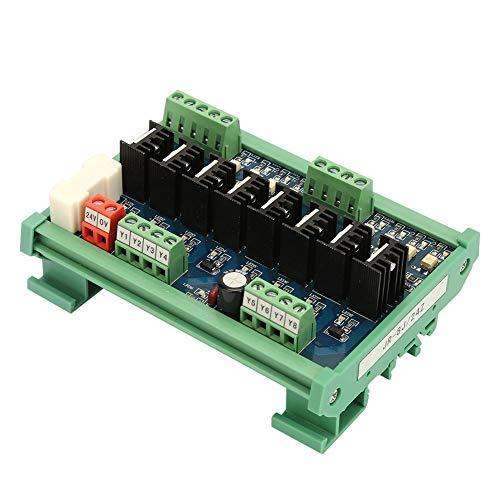 Tarjeta de alimentación de Salida de Transistor de Amplificador de CC de 8 Canales PLC (Color de Placa de Circuito Rojo y Azul al Azar)