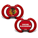 MasterPieces Baby Fanatic NHL Chicago Blackhawks 2-Pack Pacifiers, One Size, Team Color