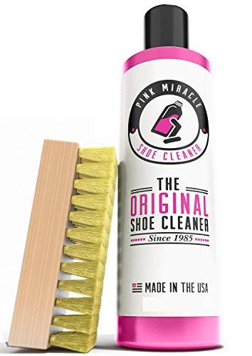 Kit de Limpieza Pink Miracle - Limpiador de zapatos - Limpiador para zapatos de cuero, blancos y nubuc con cepillo BONUS gratis