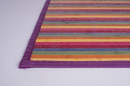 Clara Vidal Bertha Hogar - Alfombra Bambú Kanda, Multicolor (120_x_180_cm)