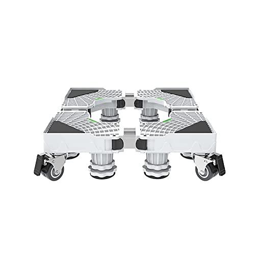 Base Multifuncional móvil con 8 Patas 4 Ruedas Lavadora Secadora Rejilla Universal Longitud Ajustable 45-60 cm Ancho 47-60 cm Soporte para frigorífico Pedestal para lavavajillas