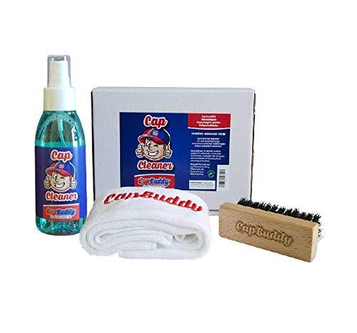 Cap Buddy Cap Cleaner Set Baseball Cap Reiniger für ALLE Baseballkappen inklusive Spray, Bürste und Tuch