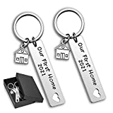 Our First Home Keychains with Gift Box New Home Housewarming Gift Keyrings 2021 (Keychain-2021)