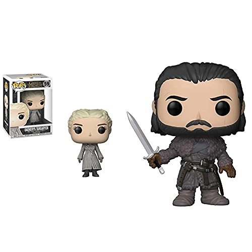 Funko Pop Vinile Game Of Thrones S8 Daenerys (White Coat) Statua Collezionabile, Colore Standard, 9 Cm, 28888 & 29166 Got S8 29166 Game Of Thrones Jon Snow Beyond The Wall Pop Vinyl Figure, Multi