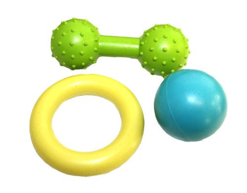 Little Rascals Hundespielzeug-Set, aus Gummi, 3-teiliges Set
