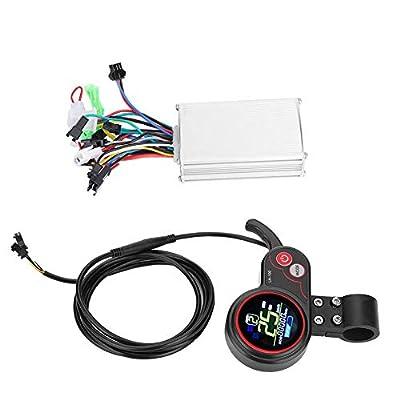 Tbest E-Bike-Geschwindigkeitsregler, bürstenloser Motorregler Bürstenloser Regler LCD-Display Bedienfeld mit Schalthebel Zubehör für E-Bike & Scooter(48V)