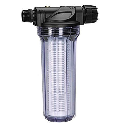 Gardena Pumpen-Vorfilter für Wasserdurchfluss bis 6000 l/h: Effektiver Filter für Gartenpumpen und Hauswasserautomaten, mit Filtereinsatz (1730-20)