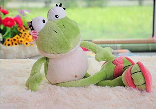 ZzSTX Kuscheltier Der Froschkönig Netter Frosch Weiches Plüschtier Kuscheltiere Kindergeburtstagsgeschenk Für Mädchen Baby 35Cm