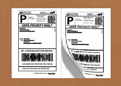 Half Sheet Self Adhesive Shipping Labels for Laser & Inkjet Printers, 200 Count (BL-G8511-100) [New Improved Version]