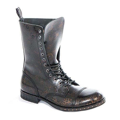 Boots & Braces - 12 Loch Steampunk Gear Schuhe Gothik Ranger Steam Punk Leder Made IN EU NEU