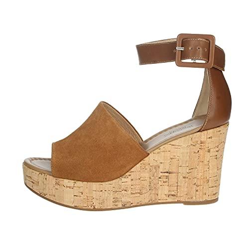 Sandalo da Donna NeroGiardini in Pelle Tabacco E012411D. Scarpa dal Design Raffinato. Collezione Primavera Estate 2020. EU 35