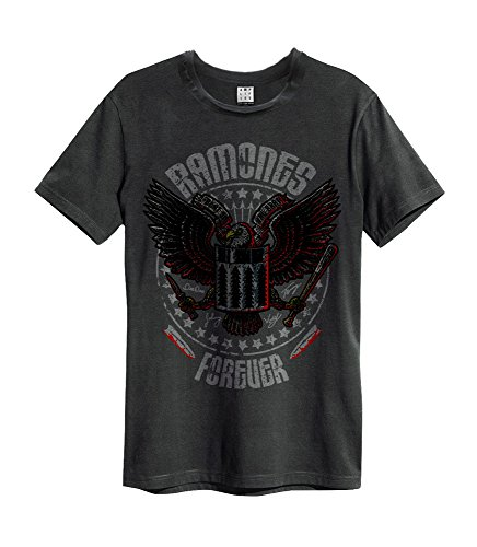 Amplified - Ramones Forever Camiseta carbón Small