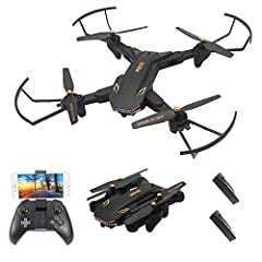 Functions: Sideward flight, turn left/right, up/down, forward/backward, high/low speed, 3D rollover, 2.0MP wide angel camera, Wifi FPV, gravity sense control, headless mode, one key return, altitude hold. Innovative selfie drone, 2.0MP Wide Angel cam...
