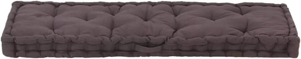 Festnight Coussin de Canap/é Palette en Coton Coussin de Sol 120x40x7 cm Anthracite