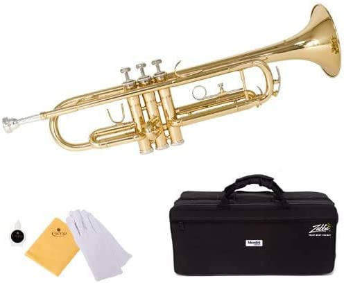 Mendini By Cecilio Bb Trumpet - Brass, Gold Trumpets w/Instrument Case, Cloth, Oil, Gloves - Musical Instruments For ...