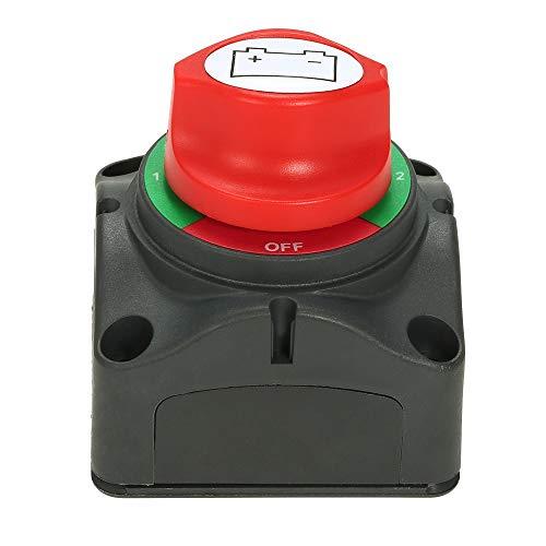 L.J.JZDY Piezas de automóviles 12V / 24V Doble selector de la batería Interruptor Interruptor selector de conmutador de 4 Posición...