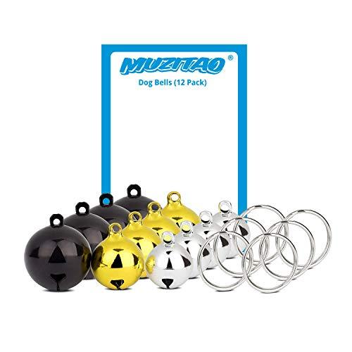 Muzitao Dog Bells (12 Pack) Strongest & Loudest Dog Collar Bells