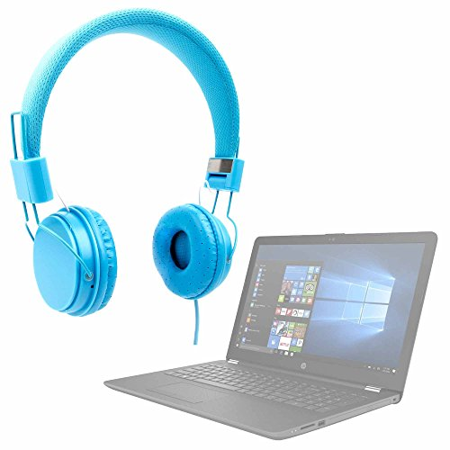 DURAGADGET Auriculares De Diadema Color Azul para Portátil HP 17-BY0320NG, HP Elitebook 840 G5, HP Notebook 15-bs127ns
