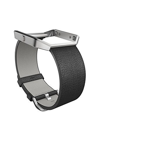 Fitbit Blaze Leather Accessory Band, schwarz, Small