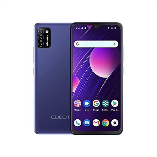 CUBOT Smartphone senza contratto, cellulare 5.5 ¨ 4G, Quad Core, Android 10, Dual SIM. Blu