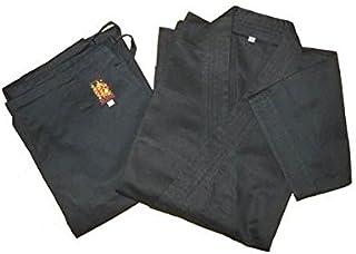 綿100%空手道衣セット【黒】(上衣+ズボン) サイズ3~5