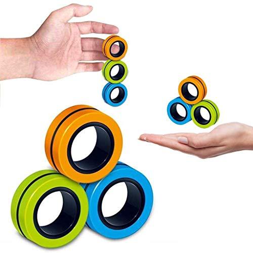 GHONLZIN Professionelles Dekompressionsspielzeug, Magnetischer Armbandring Entpacken Spielzeug Magnetischer Ring Requisiten Fingertraining Lindert Stressabbau