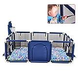 YF-Barstool Große Baby Laufstall Kleinkind Zaun Indoor Outdoor Tragbare Raumteiler Barriere Erweiterbar Baby Sicherheitsbarriere Schloss Infant für Kind Kinder (Ball Nicht enthalten)