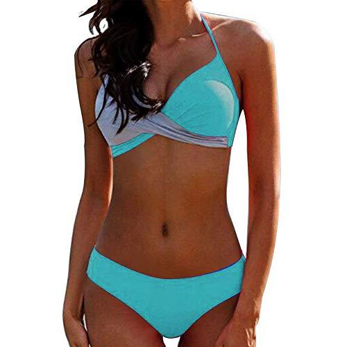 JFan Donna Costume da Bagno Push Up Imbottito Reggiseno Bikini 2019 Donna Due Pezzi Swimwear Abiti da Spiaggia (Verde, M)