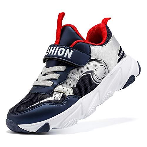 ASHION Kinder Turnschuhe Jungen Sneaker Babys Hausschuhe Mädchen Sportschuhe Kinderschuhe Laufschuhe Unisex-Kinder (J Gold,28 EU)