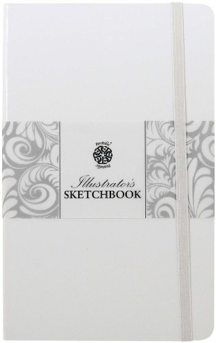 Pentalic Illustrators Sketchbook, 5-1/2-Inch by 3-1/2-Inch, White Chocolate