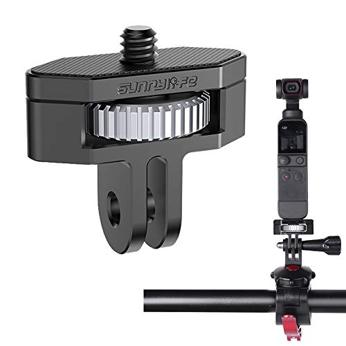 Linghuang - Adaptador de montaje ajustable de 1/4 tornillos y Go-Pro Base de montaje trípode adaptador para DJI OSMO Pocket 2/ Insta360 One X2/X para cámara réflex