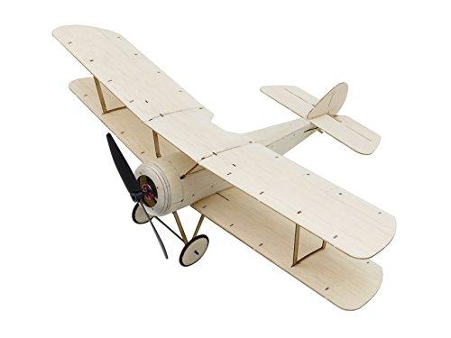 Mini RC Plane Kit Sopwith Pup Biplane Model Aircraft, 14.8'' Wingspan Balsa Wood Airplane Kits to Build, DIY Radio Controlled Airplane Electric RC Aeroplane for Adults Indoor Fly (KIT+Motor+ESC+Servo)