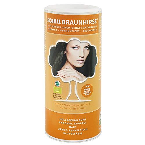 Sojall Braunhirse in Bioqualität 250 g | Gekeimtes und fermentiertes Bio-Lebensmittel in Premium- und Rohkost-Qualität | Mit natürlichem Vitamin C aus der Acerola Kirsche