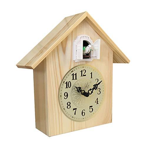 GAOJIN Cuco Reloj de Pared de Cuarzo, Reloj Creativo Reloj Moderno pájaro Colgando Reloj decoración Despertador Reloj de Alarma Sala de Estar