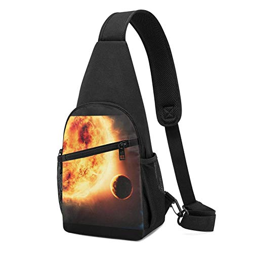 DJNGN Cosmos Galaxy Schultertasche Crossbody Travel Hiking Chest Daypack