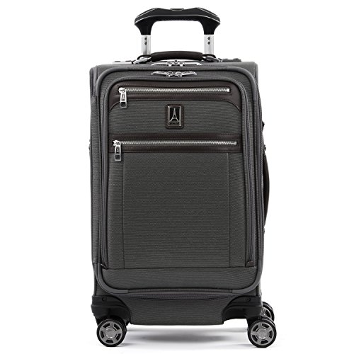 Travelpro Platinum Elite-Softside Expandable Spinner Wheel Luggage, Vintage Grey, Carry-On 21-Inch